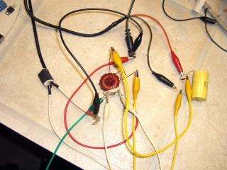 Inductor measurement test setup
