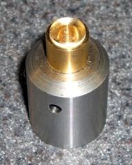 Lens holder in end mill holder