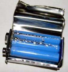 Inside a batteries.com 9V battery