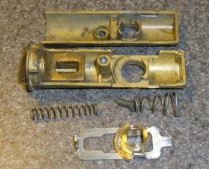 Storm door latch parts