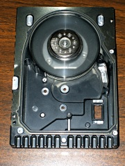 Scrubbed hard drive platters