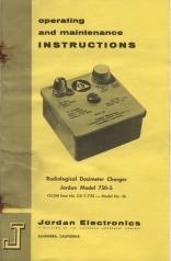 V-750 Model 5b Manual Cover