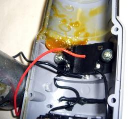 Broken wire in power screwdriver