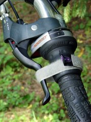 Bicycle parking brake strap