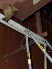 BOB Yak on garage door rail