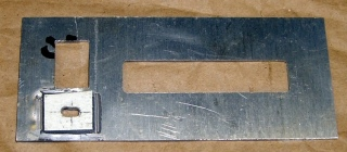 Patched panel - rear view