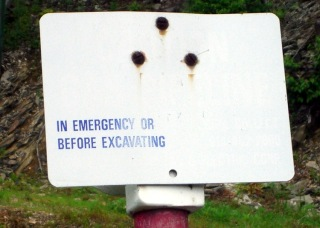 In Emergency Blank Sign
