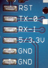 Arduino Pro USB (cold) Solder Pads