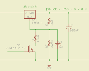LM317 Regulator (Partial) Schematic
