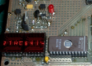 27HC641 EPROM in programming socket