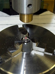 Laser Aligning to the Button Stem