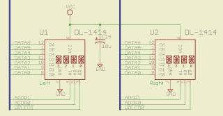 DL-1414 LED display schematic