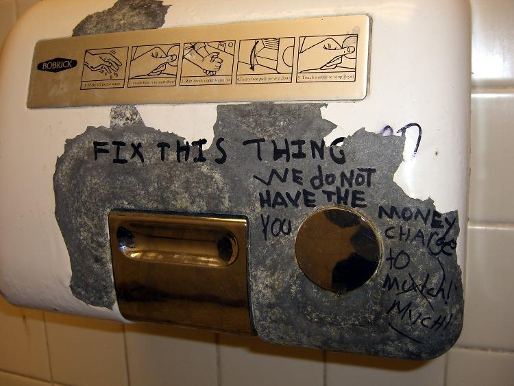 Hand Dryer Graffiti