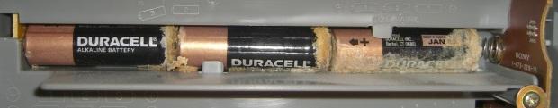 Alkaline Cell Corrosion in Boom Box