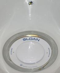 Waterless urinal target