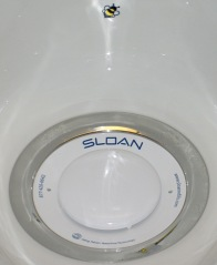 Waterless urinal target