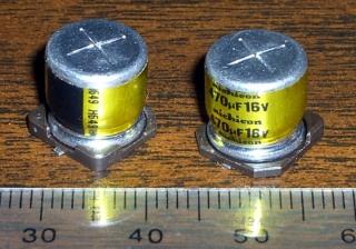 Nichicon electrolytic capacitors