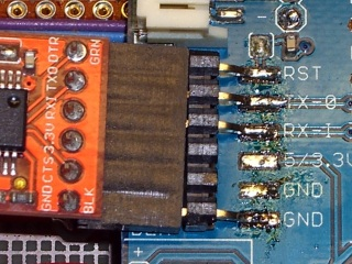 Arduino FTDI Basic on modified Arduino Pro