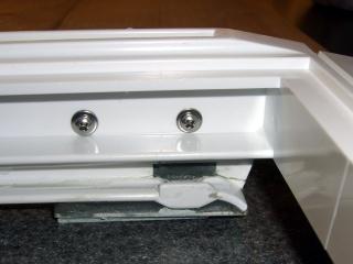 Refrigerator shelf bracket - inside