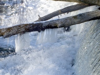 Waterfall icicles