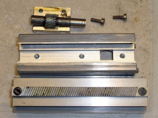 Rack and pinion - disassembled