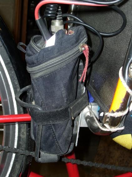 Radio in seat wedge pack in bottle holder