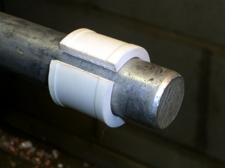 Reshaped bushing on mandrel
