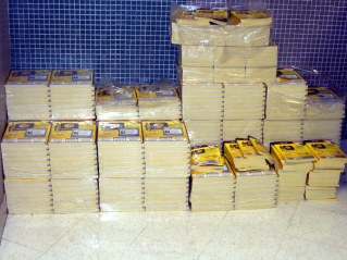 Stacks of Phone Books