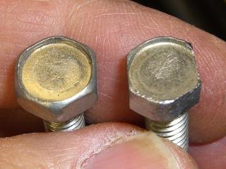 Shaped bolt head