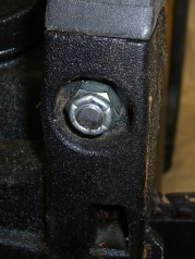 Nylock nut on trimmed bolt