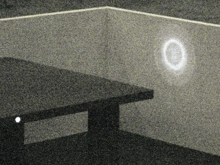 Red LED Beam Pattern in IR