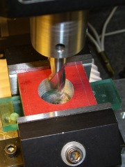Helix-milling the clamp hole