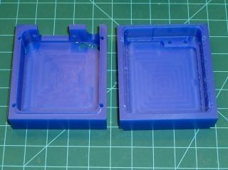 Machinable wax case - interior