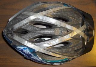 Peeled bike helmet
