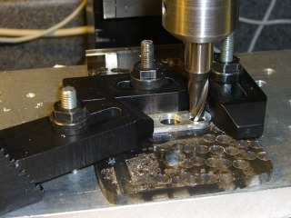 Milling the plug plate recess