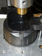Laser aligning to hinge stub