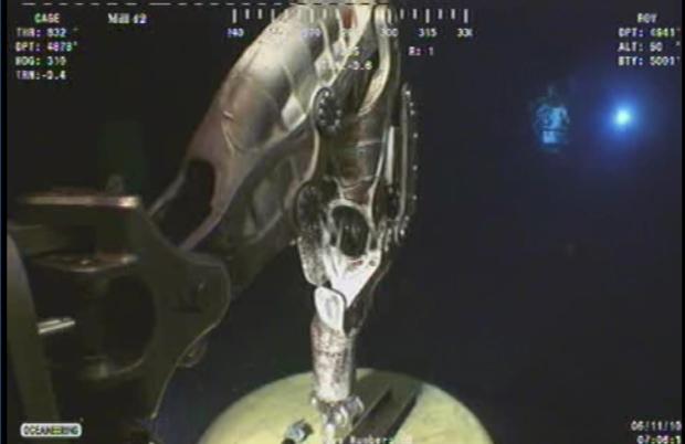 Deepwater Horizon capping - manipulator arm