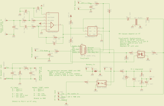 GPS + Voice HT Interface schematic