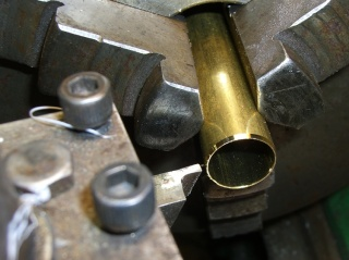 Sharpening the brass tube