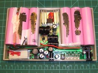 Battery pack internal layout