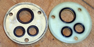 Old and New Faucet Spacers