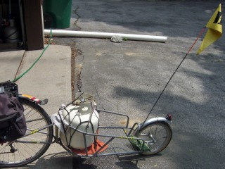 Bike trailer with propane tank