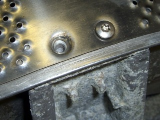 Spider mounting bolts through drum