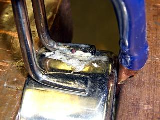 Silver-soldered handle - left side