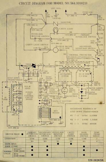 Microwave Oven Schematic