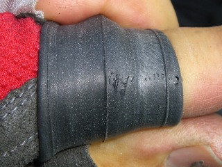 Failed tube rubber