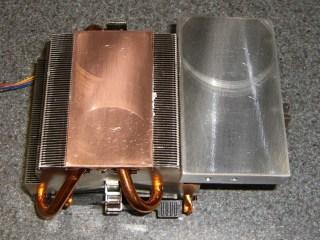 Flattened heatsink and spreader