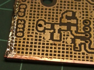 Copper tape on PCB edge
