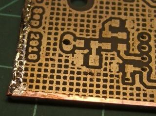 Copper tape on PCB edge