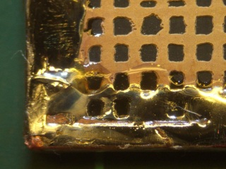 Copper tape solder joint